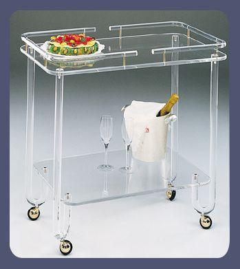 Carrello multiuso in plexiglass plexdesign prodotti - Carrello portavivande design ...