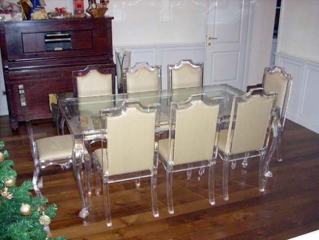 Tavolo da pranzo rettangolare plexdesign prodotti - Portafoto da tavolo plexiglass ...