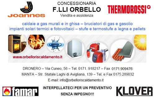 F lli orbello v e p snc riscaldamento 12025 for Assistenza stufe a pellet thermorossi